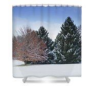 All Is Calm Shower Curtain by Kim Hojnacki