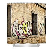 Alley Graffiti And Windows - Romania Shower Curtain