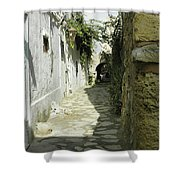alley in Hammamet, Tunisia Shower Curtain