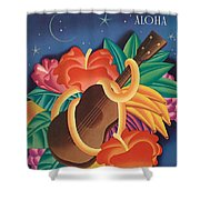 Aloha Welcome To Hawaii, 1932 Poster Shower Curtain