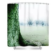 Alone But Not Abandoned Shower Curtain