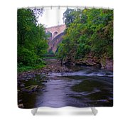 Along The Wissahickon At The Henry Avenue Bridge Shower Curtain