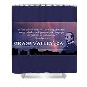 Alonzo Delano Grass Valley Quote Shower Curtain