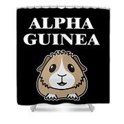 Alpha Guinea Pig Shower Curtain