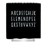 Alphabet Elemeno Shower Curtain