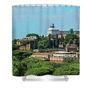 Altare Della Patria Shower Curtain