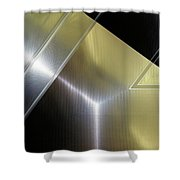 Aluminum Surface. Metallic Geometric Image.   Shower Curtain