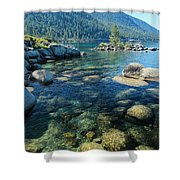 Always About The Light  Shower Curtain by Sean Sarsfield
