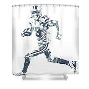 Amari Cooper Dallas Cowboys Pixel Art 3 Shower Curtain
