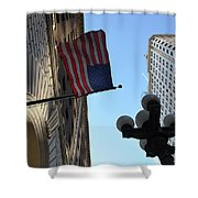 American Flag Downtown La Shower Curtain