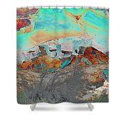 American Indian Home In Abstract Shower Curtain