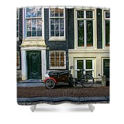 Amsterdam Bike Scene Shower Curtain