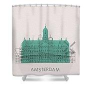 Amsterdam Landmarks Shower Curtain