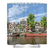 Amsterdam Prinsengracht Houseboats Shower Curtain