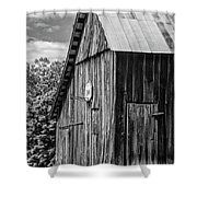 An American Barn Bw Shower Curtain