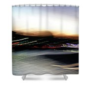 An Early Morning Blur Shower Curtain