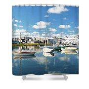An Idyllic Boating Day Shower Curtain