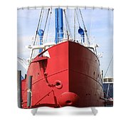 An Old Tour Vessel Fisher Shower Curtain