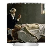 Anatomy Of The Heart, 1890 Shower Curtain