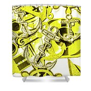 Anchors Above - Icons Below Shower Curtain