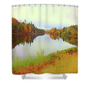 Androscoggin River, 13 Mile Woods Shower Curtain