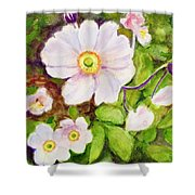 Anemones Birthday Card Shower Curtain