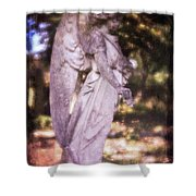 Angel Linen Shower Curtain