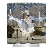 Angel Swirling In The Desert Shower Curtain