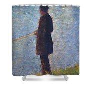 Angler 1884 Shower Curtain