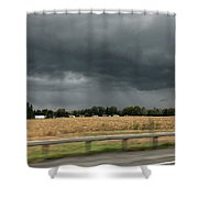 Angry Black Sky Shower Curtain