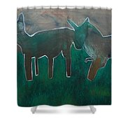 Animals In A Field Shower Curtain