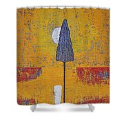 Another Day At The Office Original Painting Shower Curtain