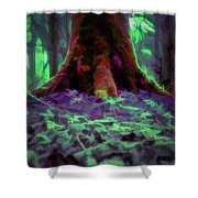 Another World - Overgrown Shower Curtain by Scott Lyons
