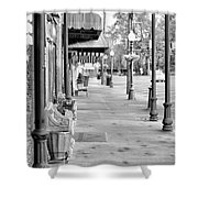 Antique Alley In Black And White Shower Curtain