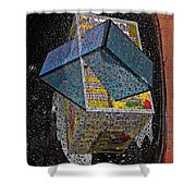 Antique Car Fender With 3d Text Boxes Shower Curtain