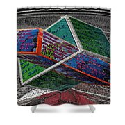 Antique Car Hood With 3d Text Boxes Shower Curtain