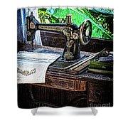 Antique Sewing Machine Shower Curtain