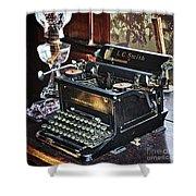 Antique Typewriter 2 Shower Curtain