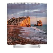 Aphrodite's Birthplace Or Petra Tou Romiou In Cyprus 2 Shower Curtain