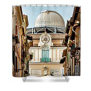 Apostolic Palace And The Vatican Observatory In Castel Gandolfo Shower Curtain by Fabrizio Troiani