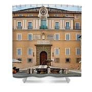 Apostolic Palace In Castel Gandolfo Shower Curtain by Fabrizio Troiani