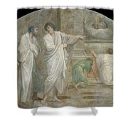 Apparition Of Saint Didacus Above His Sepulchre  Shower Curtain