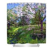 Apple Blossom Trees Shower Curtain