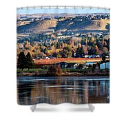 Apple Country Along The Columbia River Shower Curtain