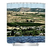 Apple Farming On The Hills Of Wenatchee Shower Curtain