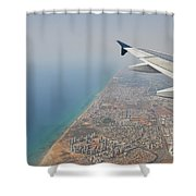 approach to Ben Gurion Airport, Israel w4 Shower Curtain