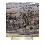 April Badlands Near Amidon Shower Curtain