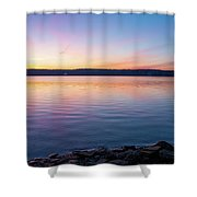 April Dawn On The Hudson River I Shower Curtain