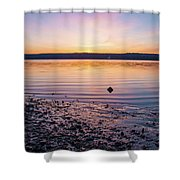 April Dawn On The Hudson River II Shower Curtain
