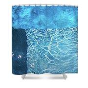 Aqua Agua Abstract Five Shower Curtain